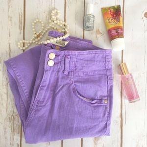 Top shop light purple Kristen skinny jeans
